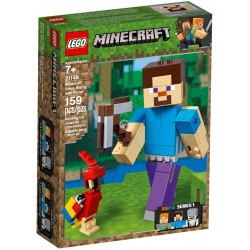 LEGO Minecraft 21148 Steve BigFig with Parrot