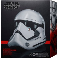 Star Wars The Black Series First Order Stormtrooper Electronic Helmet, Star Wars: The Rise of Skywalker Collectible