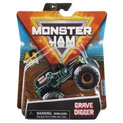 Monster Jam 1:64 Single Pack F21 Grave Digger Grandma Wheelie Bar