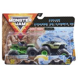 Monster Jam 1:64 2 Packs - Double Down Showdown - Grave Digger vs Alien Invasion