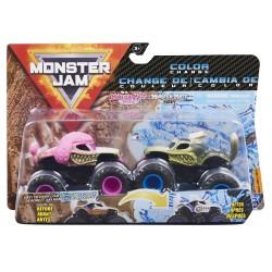 Monster Jam 1:64 2 Packs - Double Down Showdown - Monster Mutt Poodle vs Monster Mutt Husky