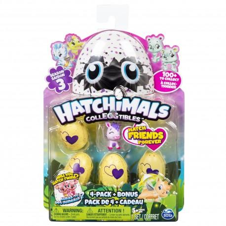 Hatchimals CollEGGtibles S3 4 Pack + Bonus Asst